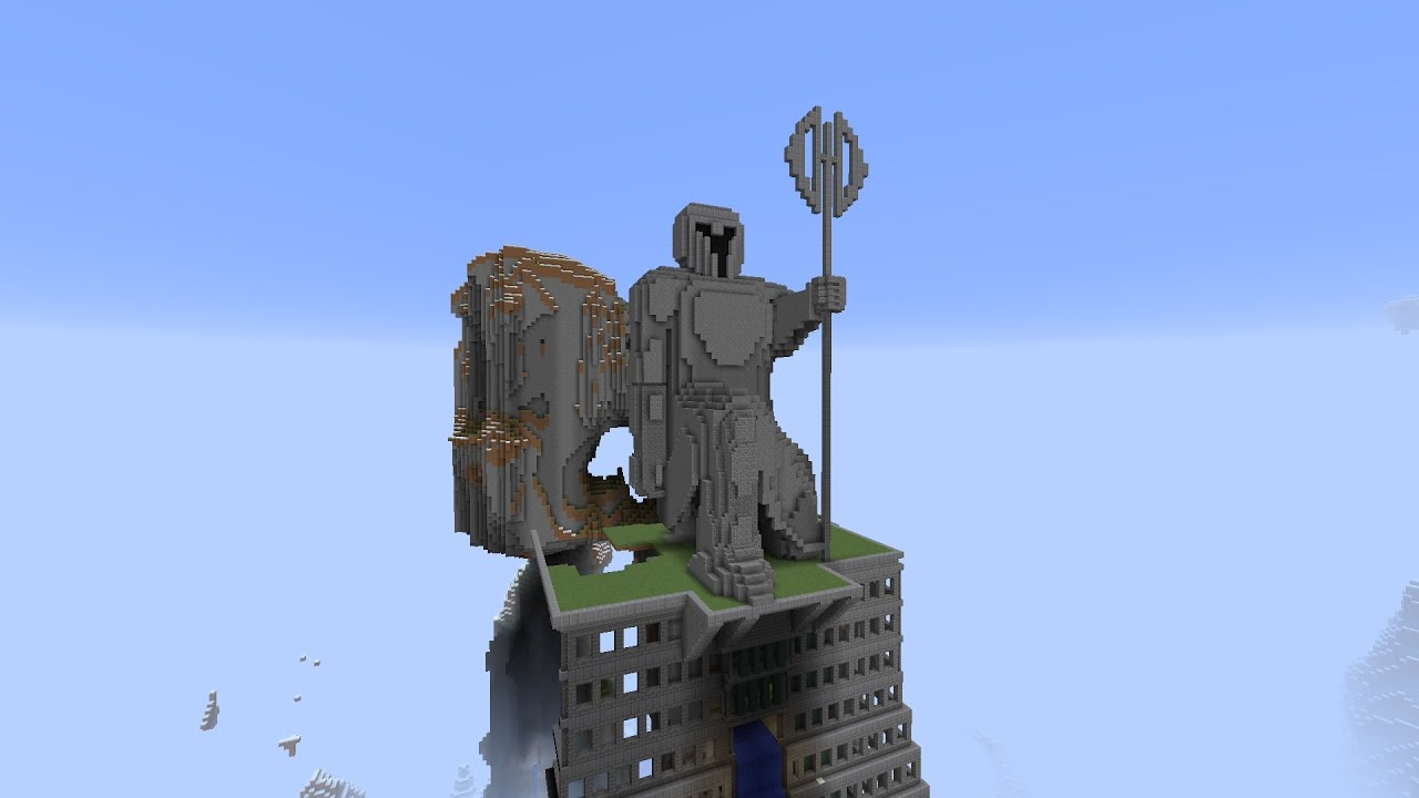 minecraft statue megabuild by carving out a mountain youtube