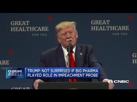 Trump wouldn't be surprised if Big Pharma had role in impeachment probe