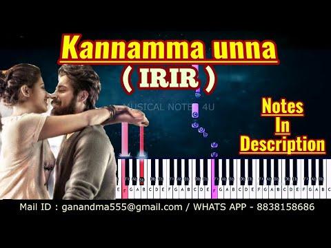 kannamma-unna-piano-notes-|-ispade-rajavum-idhaya-raniyum-|-tutorial-|-keyboard-|-sheet-music-|cover
