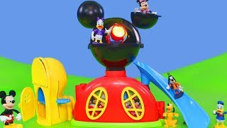 Micky Maus Wunderhaus Unboxing: Roadster Racers, Minnie Mouse & Disney Donald Duck Kinder Clubhouse