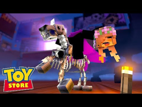 THE HEADLESS HORSEMAN TAKES LITTLE KELLY'S HEAD !!! Minecraft TOY STORE w/ Sharky