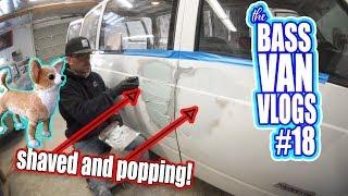 Bondo session and Passenger door pop! - Bass Van Vlog #18