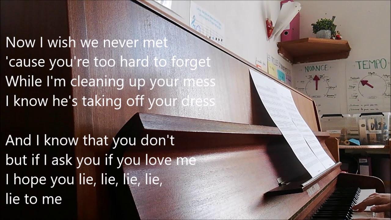 5SOS - Lie to me piano cover + lyrics