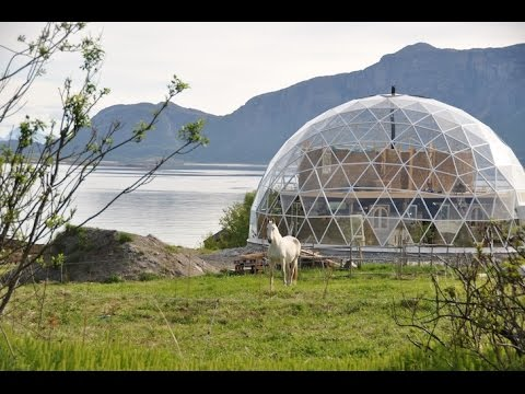 Gorgeous Solar Geodesic Dome Crowns Cob House In The