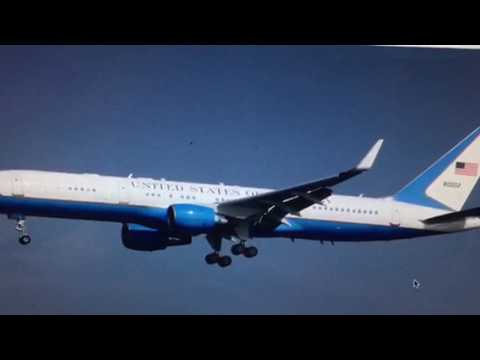 President Trump Using Boeing C-32 757 As Air Force One Today