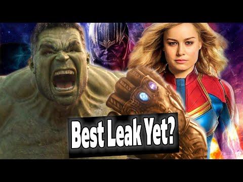 BEST AVENGERS ENDGAME LEAK YET?! Captain Marvel DEPOWERED? MCU Drama?