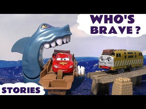 Cars Hot Wheels Who's Scared Shark Attack Race Pocoyo Thomas & Friend Play Doh Halloween Toy Story
