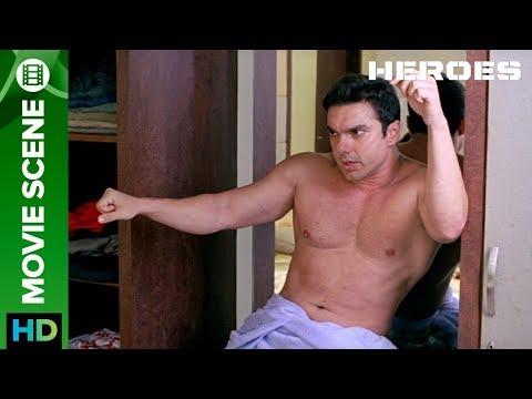 Sohail Khan gets mad in an act | Movie Scene | Heroes | Sohail Khan, Vatsal Sheth, Riya Sen,