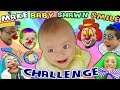MAKE THE BABY SMILE CHALLENGE w  Cutie Pie Shawn! FUNnel V Family Fun!