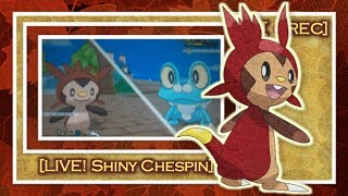 [ LIVE! ] Shiny Chespin on Pokemon Y after only 50 Soft Resets!