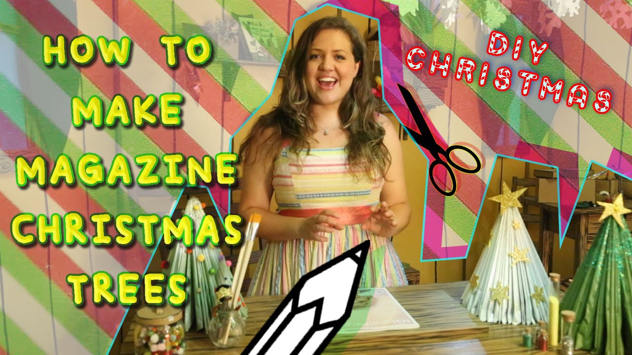 How To Make Magazine Christmas Trees