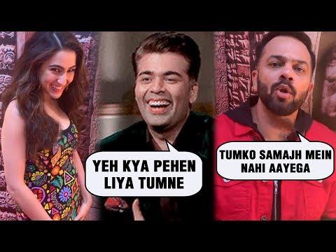 Karan Johar Makes Fun Of Sara Ali Khan And Rohit Shetty | Ranveer Singh | Simmba Promotions Mp3