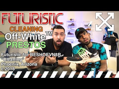 Teaching Futuristic how to clean Off-White Prestos