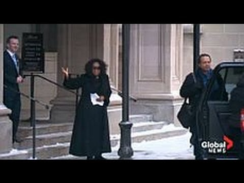 Oprah comments on Edmonton weather