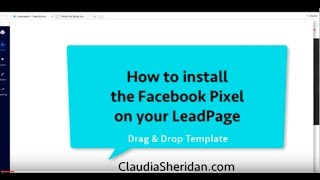 How To Install Facebook Pixel To LeadPages Drag And Drop Template