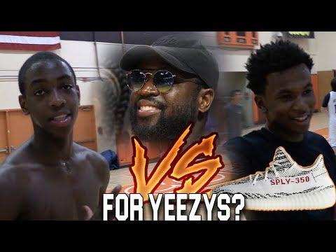 Dwyane Wade's Son & Nephew Play 1v1 for YEEZY'S?? Zaire Wade vs Dahveon Morris