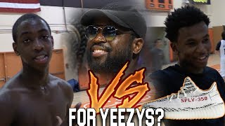 Dwyane wade's son & nephew play 1v1 for yeezy's?? zaire wade vs dahveon morris
