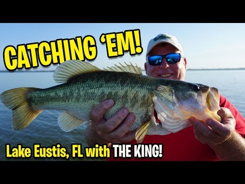 Wacky Rigging Bass Fishing Lake Eustis Florida With The KING - Chef Bob Getchell Of The Boathouse
