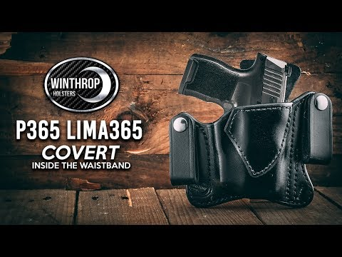 Sig Sauer P365 w/ Lima365 Covert IWB Leather Holster By:  WinthropHolsters com
