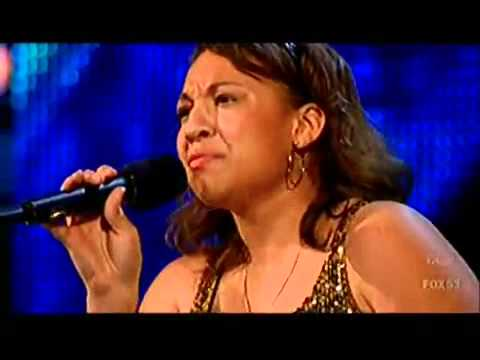 The X Factor - Melanie Amaro Audition {Listen by beyonce]