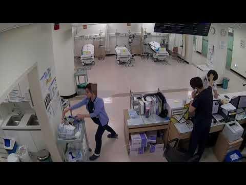 구미차병원 응급실 폭력 사건 영상(선명한 영상)