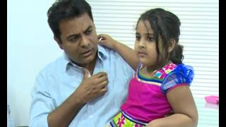 TRS Minister KTR with his Daughter Alekhya Exclusive