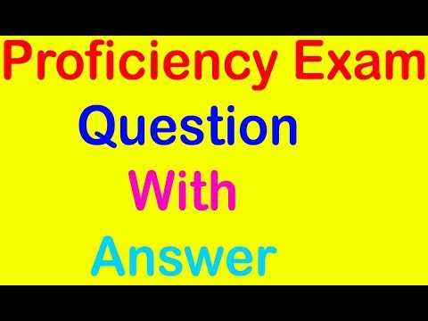 Proficiency Exam Question with answer in Kushal Yuva Program (KYP)