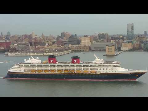 Disney Cruise Ship-Manhattan-Hudson River