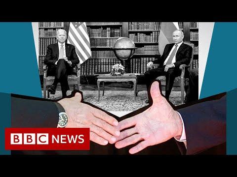 When Biden met Putin: Decoding the world leaders' body language - BBC News