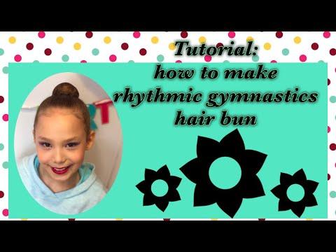 Tutorial: how to make a hair bun for rhythmic gymnastics