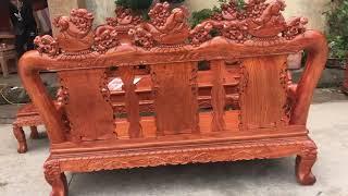 Bộ Minh Quốc Nghê đục trạm thủ công tứ diện và kệ tivi hiện đại của Chú Dương ở Triệu Sơn- Thanh Hoá