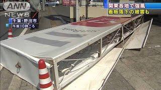 高さ5メートルの看板が歩道に・・・明け方に強風 千葉(20/04/02)