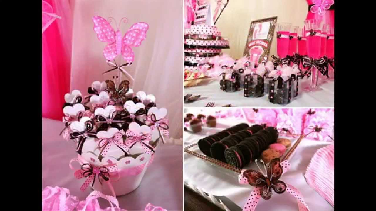 Best Baby girl themes for baby shower decorating ideas - YouTube