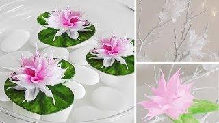 Repeat youtube video DIY: Wunderschöne Blüten aus Krepp-Papier einfach selber machen | Deko Kitchen
