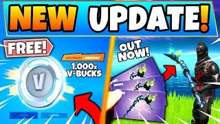 *NEW* FREE VBUCKS and MINTY PICKAXE OUT NOW in Fortnite! (Battle Royale Update)