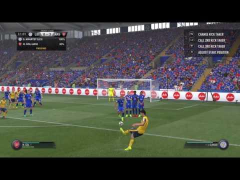 FIFA 17 Free Kick Goal as Ozil