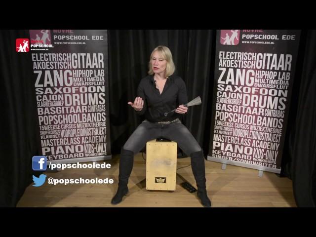 Cajon leren spelen - deel 4.  Volg de cajoncursus met Femke Krone
