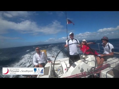2017 Club Marine RPAYC Pittwater-Southport Yacht Race. Movie Start-On-Board-Finish