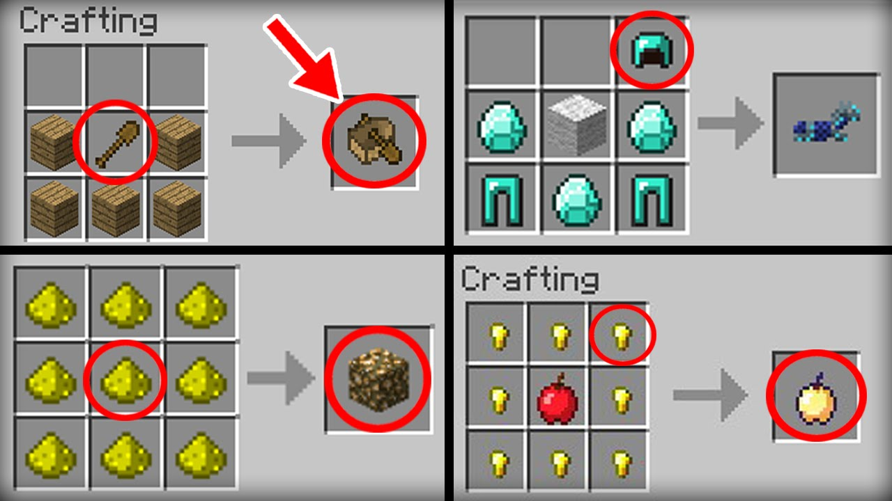 Minecraft 10 crafting recipes that changed youtube for What craft should i do