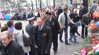 9 мая 2014 год Возложение венков к памятнику погибшим в Великую Отечественную войну  Лесосибирск