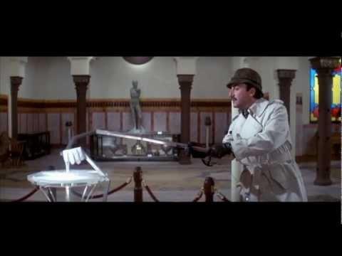 Inspector Clouseau examines the crime