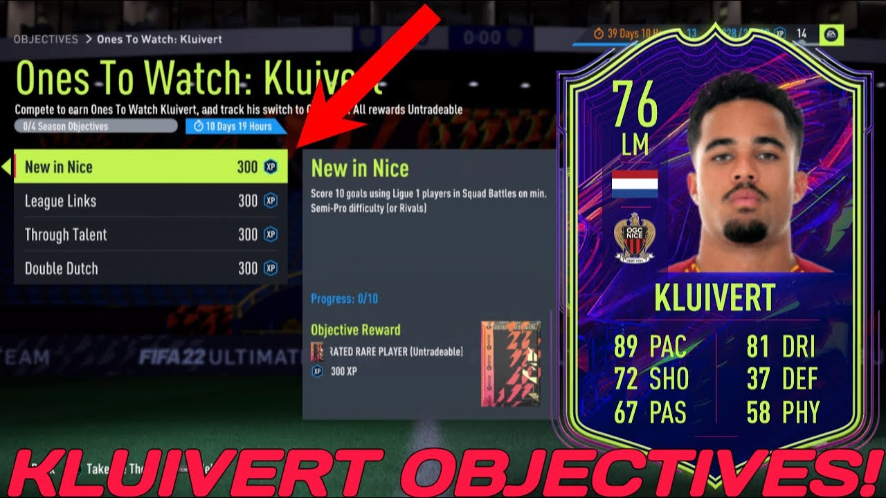 Download HOW TO COMPLETE KLUIVERT OBJECTIVES FAST! - 76 Rated OTW Justin Kluivert - FIFA 22