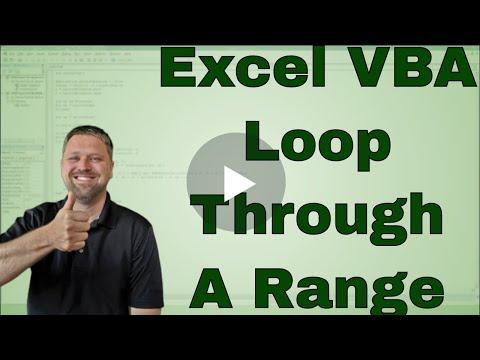 Looping Through The Cells In Range In Excel Vba Macro