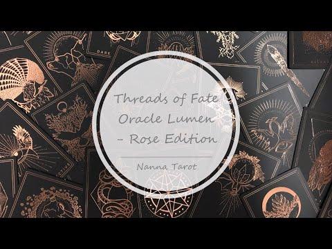 開箱  命運脈絡神諭卡-黑金版 • Threads of Fate Oracle Lumen - Rose Edition // Nanna Tarot