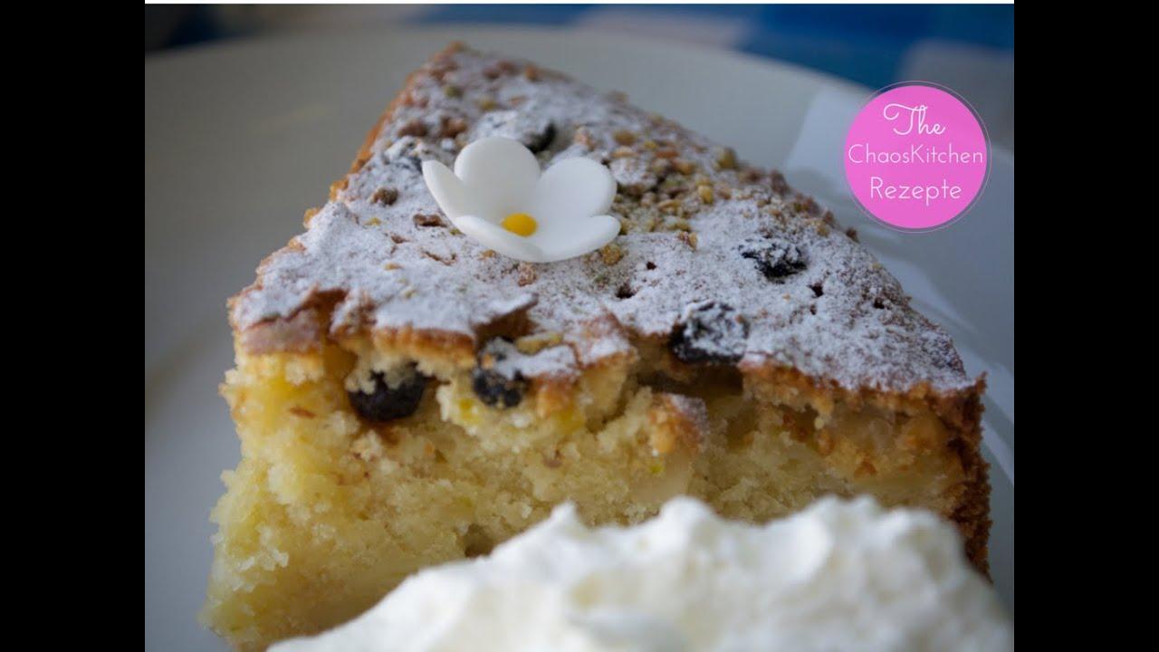 Amaretti Apfel Mandel Kokos Pistazien Kuchen Youtube