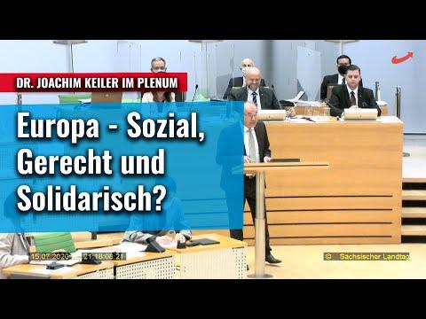 Gestaltung eines sozialen, gerechten und solidarischen Europas? Joachim Keiler im Plenum