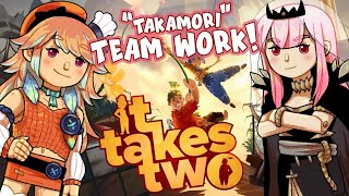 "【IT TAKES TWO】So-Called ""Takamori"" Team Work! #hololiveenglish #holomyth"