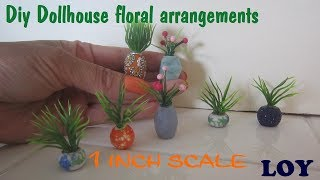 Flowers and Vases for dollhouse diy