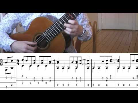 The Beatles - Here Comes The Sun - Tabs (Classical Guitar Cover by Jonas Lefvert)