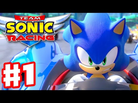 Team Sonic Racing - Gameplay Walkthrough Part 1 - Chapter 1: The Mysterious Invite